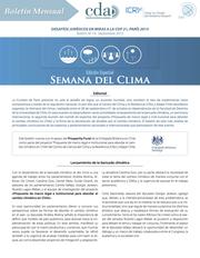 Boletín de Cambio Climático